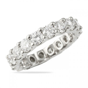 3.00CT U Setting Shared Prong Eternity Ring