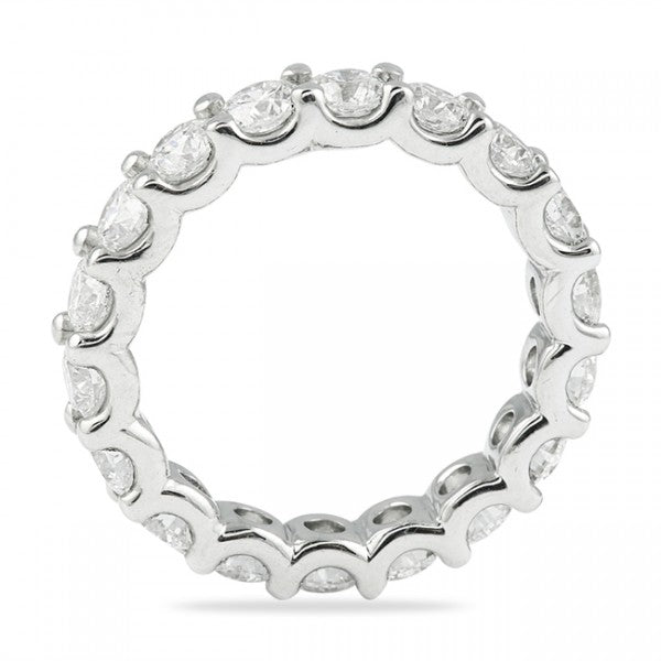 7.50CT U Setting Shared Prong Eternity Ring