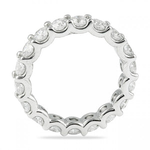 4.25CT U Setting Shared Prong Eternity Band