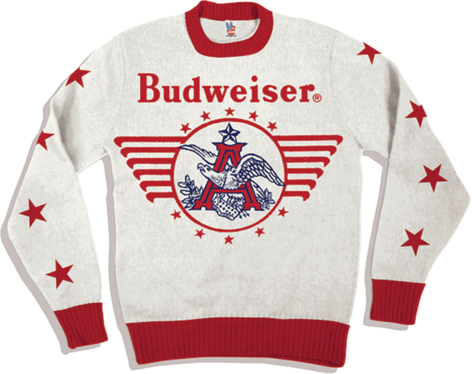 Budweiser White Sweater