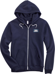 Bud Light Navy Full Zip Hoodie