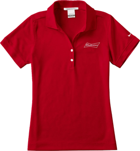 Budweiser Ladies' Red Nike Polo