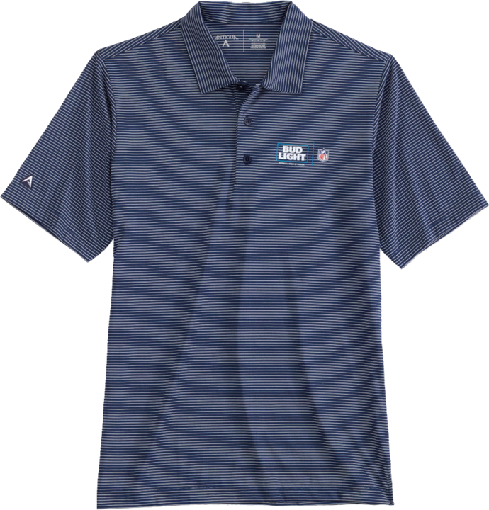 Bud Light NFL Antigua Striped Polo