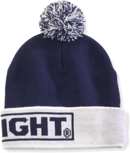 Bud Light Navy/ White Beanie With Pom
