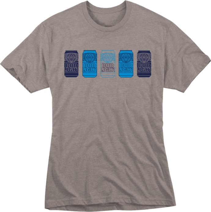 Bud Light Cans Tri- Blend T-shirt