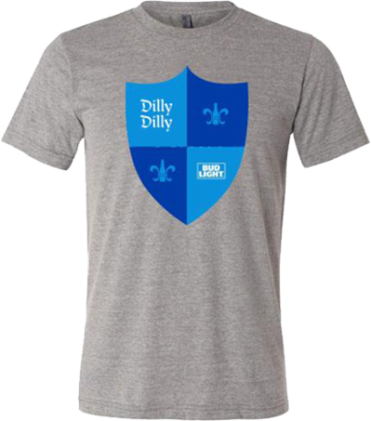 Bud Light Dilly Dilly Shield  T- shirt Triblend