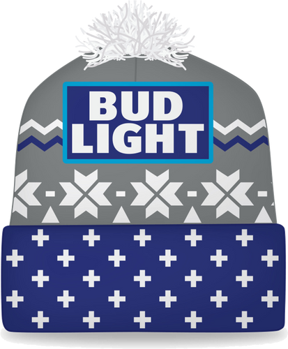 Bud Light Grey Beanie