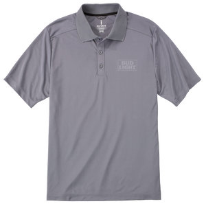 Bud Light Grey Polo