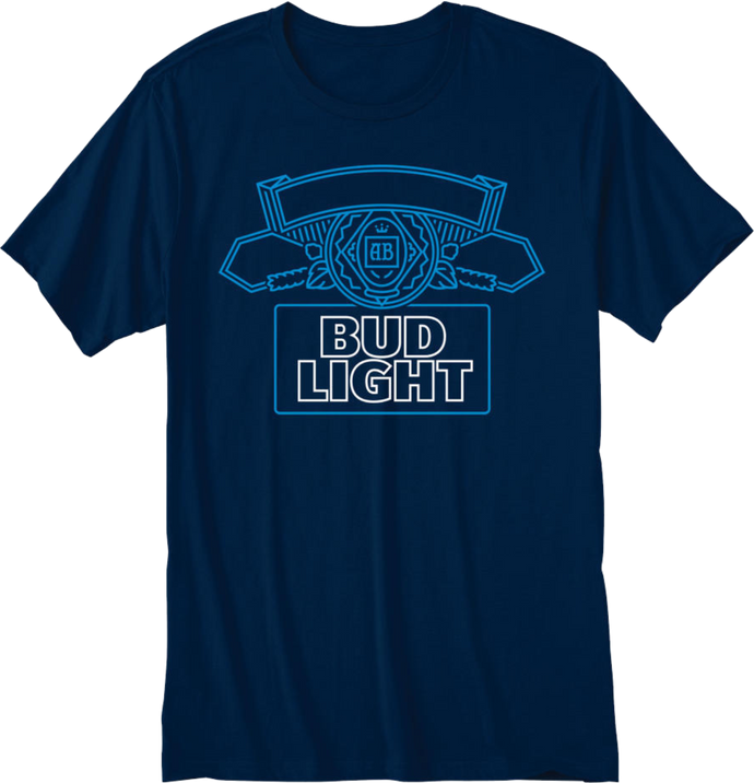 Bud Light Navy T- Shirt