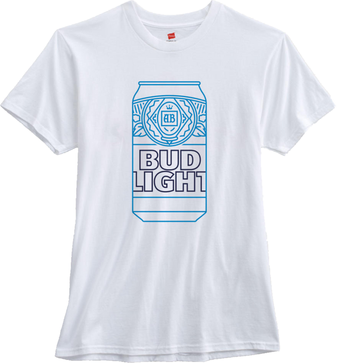Bud Light Can White T-Shirt