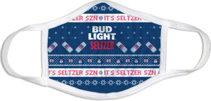 Bud Light Seltzer Ugly Sweater Face Mask