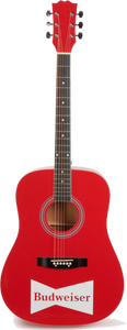 Budweiser Acoustic Red Guitar