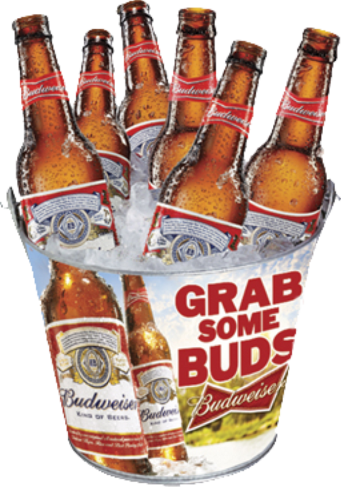 Budweiser Family Metal Bucket
