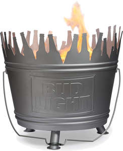 Bud Light Metal Fire Pit