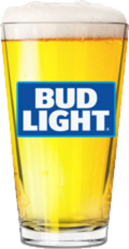 Bud Light 16 oz Pint Glass
