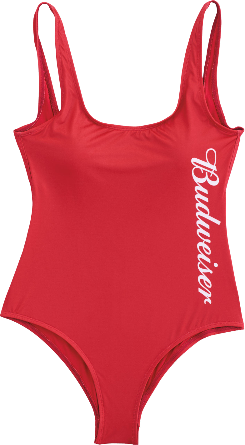 758427cf9b7 Budweiser Ladies Red Swimsuit – EP Bud Store
