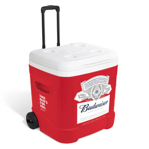 Budweiser Red Rolling Cooler