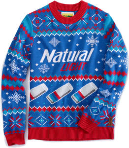 Natural Light Ugly Christmas Sweater Ep Bud Store