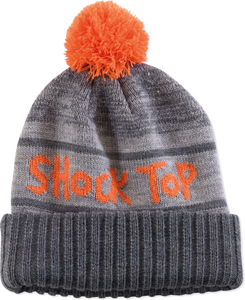 Shock Top Black Beanie With Pom