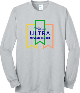 Michelob Ultra Organic Seltzer Long Sleeve Ash Tee