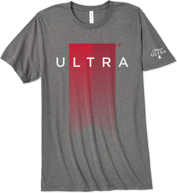 Michelob Ultra Ribbon Grey T-Shirt