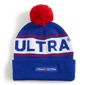 Michelob Ultra Beanie with POM
