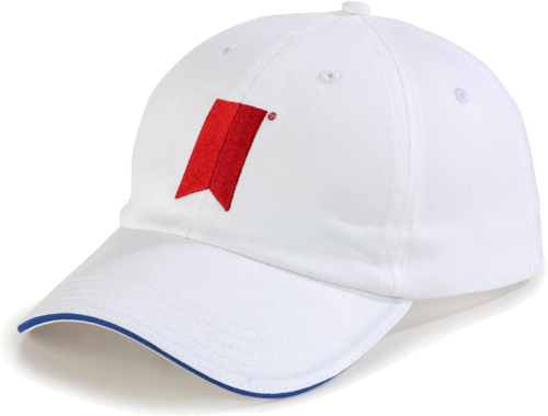 Michelob Ultra White Cap With Ribbon