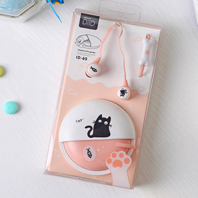 Cute Cartoon Cat Earphone Mini Earbud