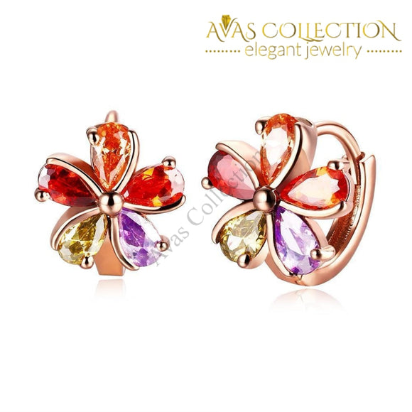 Flower Earrings Clip