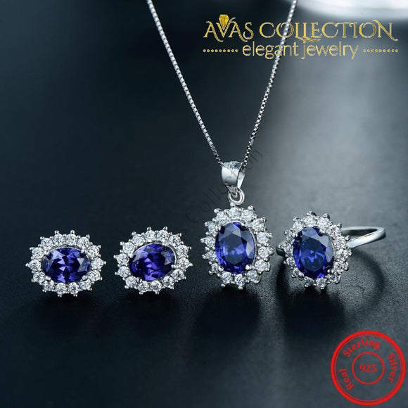 Classic Royal Blue Jewelry Set Sets