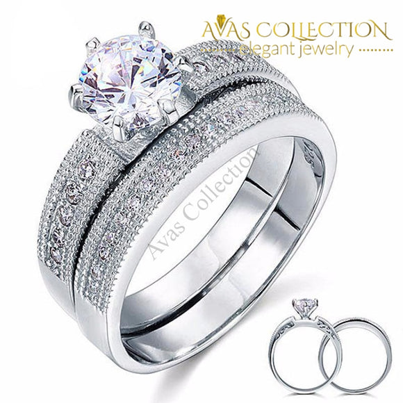 1.25 Ct Solitaire 2-Pc Bridal Set Rings