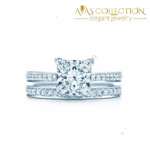 Classy 2 in 1 Wedding Ring Set - Avas Collection