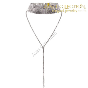 Rhinestone Choker Crystal Gem Luxury Necklaces - Avas Collection