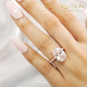 Solitaire Ring for Women Engagement  Ring Rose Gold/Silver - Avas Collection