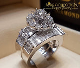 Big Stone Love Bridal Engagement Ring Vintage Wedding Rings/smt3979 10 Rings