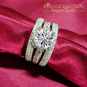 New Design Wedding Ring Set Classic Engagement Band -5352 Rings