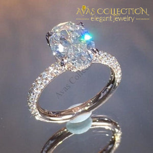 2019 New Luxury Oval Engagement Ring For Women R5091 Rings