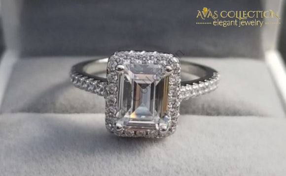 Sparking Engagement Ring Rings