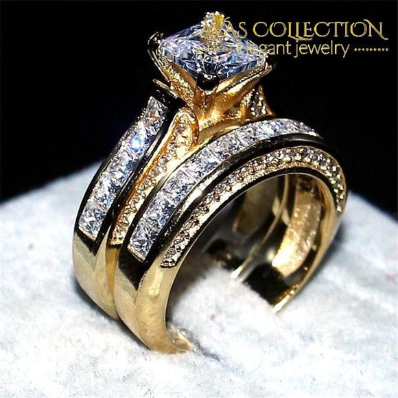 Princess-Cut 2-In-1 Engagement Set Rings