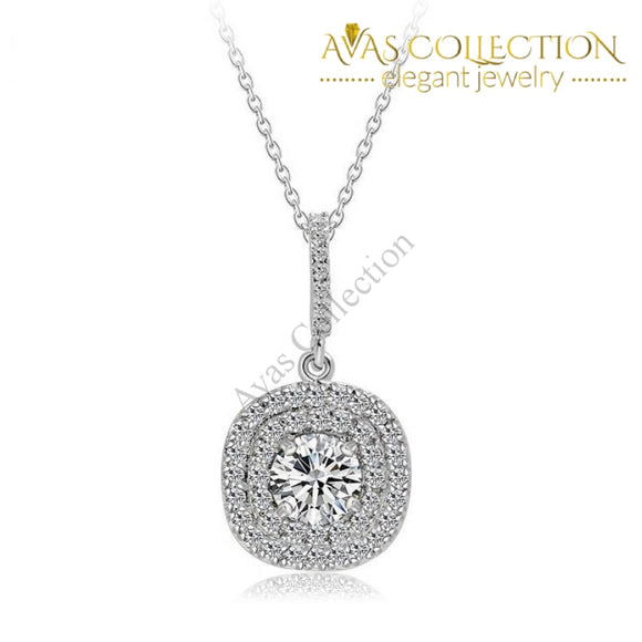 Beautiful Pendant- 10Kt White Gold Filled Pendant Necklaces