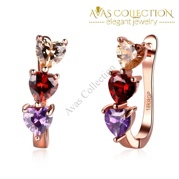 Romantic Heart Earrings Clip