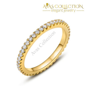 Simple Round Thin Eternity Band Rings