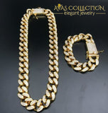 Iced Out Miami Chain Set I / Watch Pendant Necklaces