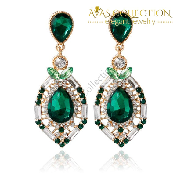 Elegant Fashion Style Crystal Dangle Earrings Drop