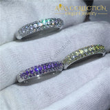 3 colors/ 10k White Gold Filled Eternity Ring - Avas Collection