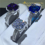 3 Colors Handmade Cushion Cut 4Ct Engagement Rings