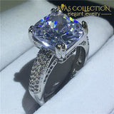 3 Colors Handmade Cushion Cut 4Ct 6 / White Engagement Rings