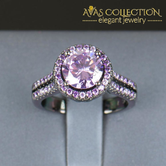 Purple Beauty - 10Kt Black Gold Filled Rings
