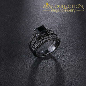 Black Gold Engagement Ring Rings