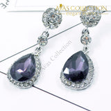 Drop Shape Alloy Imitation Crystal Earrings